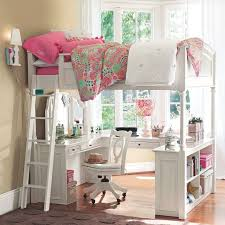 Desk Beds For Girls by Bedroom Wonderful Loft Beds For Teenagers In White With Desk And