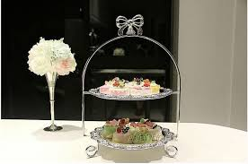 online shop european silver plated wedding cake stand cake plate