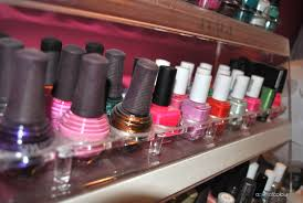 nail polish collection and storage a pop of colour