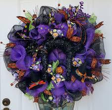 mesh halloween wreaths black cat halloween mesh wreath halloween door hanger halloween