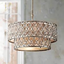 Lucia Chandelier Feiss Lucia 24 1 2 W Burnished Silver Pendant Light X4103