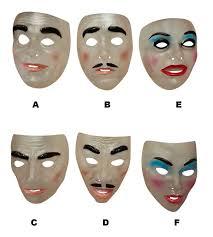 the purge mask spirit halloween transparent mask female smiling halloween the purge fancy dress