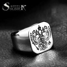 fashion double rings images Steel soldier double eagle ring stainless steel men ring fashion jpg