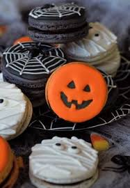 I Love Halloween - bat macarons in the bakery halloween baking i love halloween