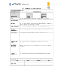 instruction template u2013 7 free word excel pdf documents download