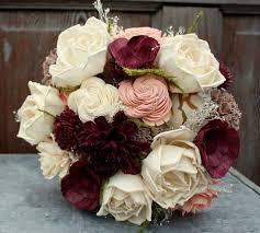 sola flowers sola flower bouquet eggplant sola wood flower wedding