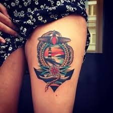 nautical on thigh for