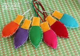 handmade felt bulb ornaments wait til your gets home