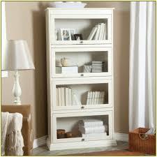 Wood Bookshelves With Doors by White Bookshelf With Glass Doors