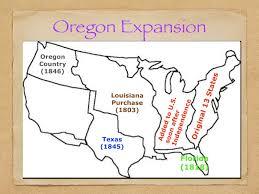 Westward Expansion Blank Map by Manifest Destiny Mr Mcdaniel