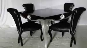 black and silver dining set vixidesign com youtube