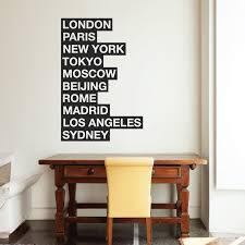 10 cities of the world wall sticker quote by wallboss wallboss famous cities wall decal