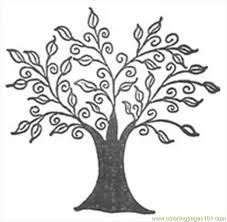 line drawings of trees free printable coloring page swirly