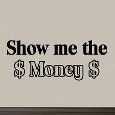 me the money wall decal saying quote vinyl letters stickers room decor