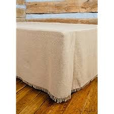 King Single Bed Valance Amazon Com Vhc Brands 17130 Burlap Natural Fringed Queen Bed