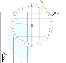 Magnetic Declination Map Plotting A Bearing On A Map Using A Protractor