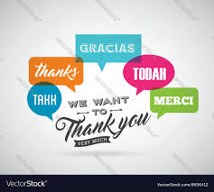 thank you card design royalty free vector image