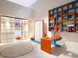 funky interior kids space design that has modern wooden floor and