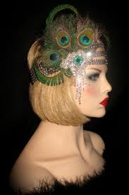 peacock headband peacock gatsby peacock headband deco flapper