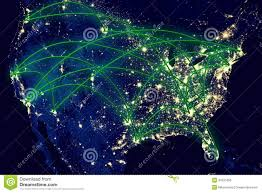 World At Night Map by United States Night Map Stock Photo Image 42631056