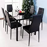 Amazoncom Glass Table  Chair Sets  Kitchen  Dining Room - Kitchen glass table