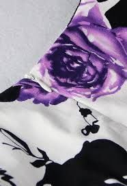 1950 u0027s vintage retro purple rose floral print party cocktail tea