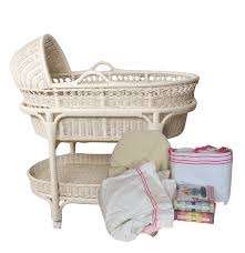 Pottery Barn Wicker Wicker Baby Bassinet From Pottery Barn Kids Ebth