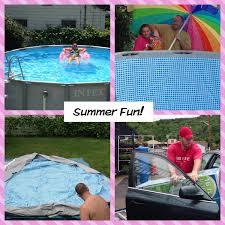 Intex Pools 18x52 New Pool Set Up And Review Intex Pool 16x48 Summer 2013 Youtube
