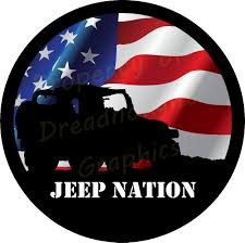american flag jeep jeep nation wavy flag spare tire cover