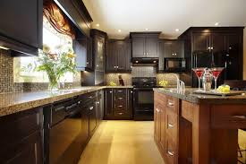 kitchen kitchen colors with dark cherry cabinets table linens