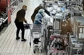 His And Hers Items Heartless Shocking Moment Two Thieves Rob Woman 87 In Aldi As