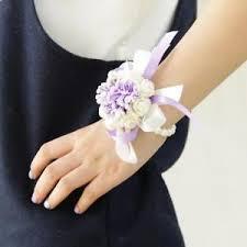 wrist corsage bracelet wedding bridesmaid prom party wrist corsage purple bracelet