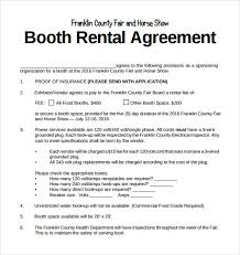 booth rental chair rental agreement template sle booth rental agreement 9