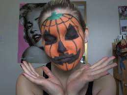 halloween pumpkin make up tutorial youtube