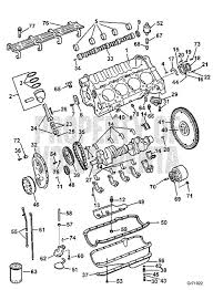 volvo penta exploded view schematic crankcase and oil pan 5 7