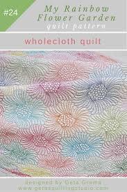 modern grandmothers flower garden applique quilt pattern