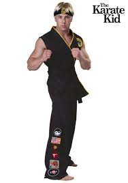 authentic karate kid cobra kai costume men halloween costumes