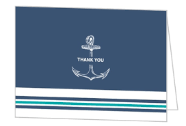 cheap thank you cards teal navy nautical anchor wedding thank you card wedding thank