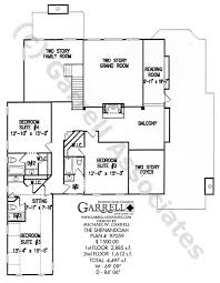 Colonial Style Floor Plans by Shenandoah House Plan House Plans By Garrell Associates Inc