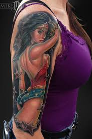 mike devries wonder woman tattoo possible tattoo ideas pinterest