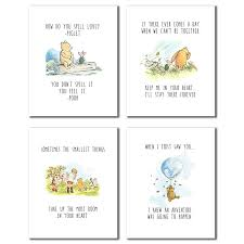 Winnie The Pooh Wall Decals For Nursery by Amazon Com Winnie The Pooh Classic Art Prints Set Of Four 8x10