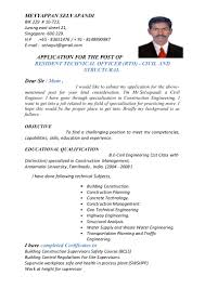 Civil Engineering Sample Resume 100 Sample Resume Civil Construction Cover Letter Project