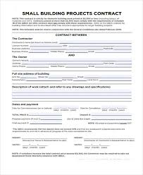 7 work contract templates free sample example format download