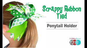 ribbon ponytail how to make a scrappy ribbon ponytail holder theribbonretreat