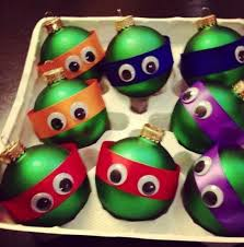 homemade teenage mutant ninja turtle christmas ornaments 8 bit nerds