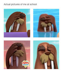 Walrus Meme - image paw patrol wally the walrus facepalm meme png paw patrol