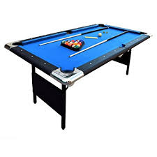 6 ft portable folding table amazon com hathaway fairmont portable 6 ft pool table for families
