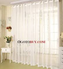 white sheer curtains in simple style suitable for home buy white
