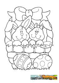 duck easter bunny coloring pages coloring