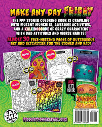 amazon com the friday pizza party stoner coloring book crammed